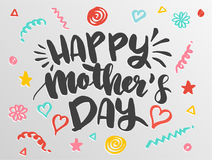 Lettering for Mother`s Day card. Stock Photography