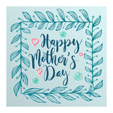 Lettering for Mother`s Day card. Royalty Free Stock Photography