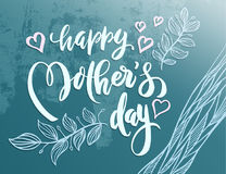 Lettering for Mother`s Day card. Royalty Free Stock Photos