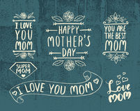Lettering for Mother`s Day card. Stock Photos