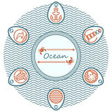 Lettering ocean Royalty Free Stock Images