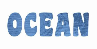 Lettering ocean Royalty Free Stock Photos