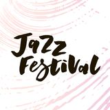Lettering with phrase Jazz Festival. Vector illustration. watercolor stock illustration
