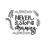 Lettering. positive quotes Stock Images
