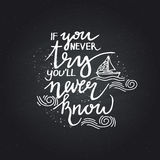 Lettering. positive quotes Royalty Free Stock Image