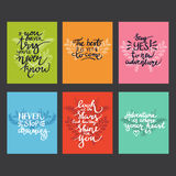 Lettering. positive quotes Royalty Free Stock Images