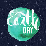 Lettering. Poster for Earth day. Royalty Free Stock Image