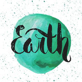 Lettering. Poster for Earth day. Stock Photos