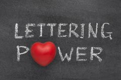 Lettering power heart Royalty Free Stock Photos