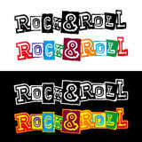 Lettering rock and roll Stock Photography