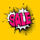 Lettering sale, tag comics book balloon Stock Photo