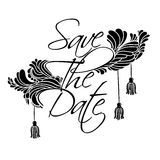 Lettering Save The Date Stock Photo