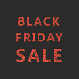 Lettering of sketch black friday sale. Isolated on black background. typography vector illustration Royalty Free Stock Photos