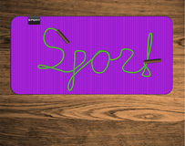 Lettering sport Royalty Free Stock Image