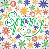 Lettering_spring Photo stock