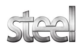 Lettering Steel Stock Image