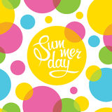 Lettering summer day Stock Photos
