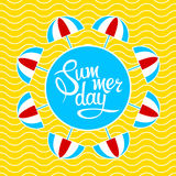 Lettering summer day Stock Image