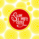 Lettering summer day Stock Images