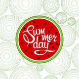 Lettering summer day Royalty Free Stock Images