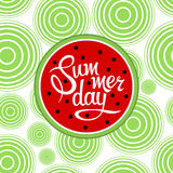 Lettering summer day Royalty Free Stock Image