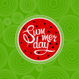 Lettering summer day Royalty Free Stock Photo
