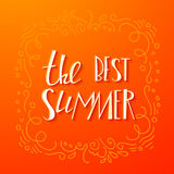 Lettering summer quote banner Royalty Free Stock Images