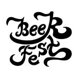 Lettering text Beer Fest. Royalty Free Stock Photography