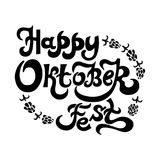 Lettering text Happy Oktober Fest. Isolated on white background. Vector illustration Royalty Free Stock Images