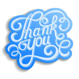 Lettering thank you Stock Photo