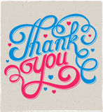 Lettering thank you Stock Image
