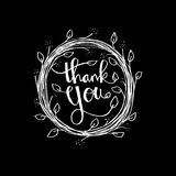 Lettering Thank you. Hand drawing illustration Royalty Free Stock Photo