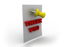 Lettering thank you with pin Royalty Free Stock Photos