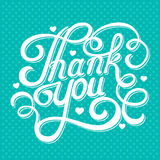 Lettering thank you Stock Photography