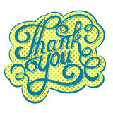Lettering thank you Royalty Free Stock Photo