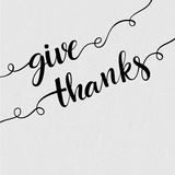 Lettering Thank you. Vector illustration Stock Images