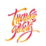 Lettering Thanksgiving Paint Texture Hand Drawn Illustration Isolated on White Background. Vector illustration vector illustration