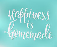 Lettering typography happiness overlay Royalty Free Stock Photo