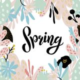Lettering typography spring royalty free illustration