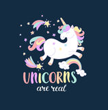 Unicorns are real. stock illustration