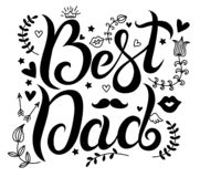 Lettering vector best dad vector illustration