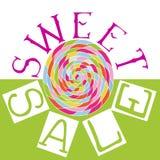 Sweet sale lettering vector illustration