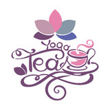 Lettering - Yoga Tea Royalty Free Stock Photos