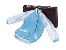 Letterman Jacket and Briefcase Stock Photos