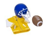 Letterman Jacket Football Helmet and Football Royalty Free Stock Photo