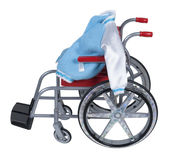 Letterman Jacket in Wheelchair Stock Photo