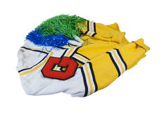 Letterman Sweater with Letter and Pom Poms Stock Images