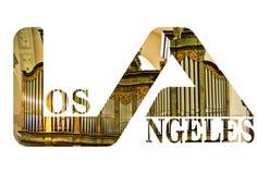 Lettermarks da tipografia do logotipo do texto e máscara do grampeamento imagem de stock royalty free