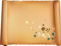 Letterpaper con el modelo de la flora Imagen de archivo libre de regalías