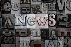 Letterpress ειδήσεις Στοκ εικόνες με δικαίωμα ελεύθερης χρήσης